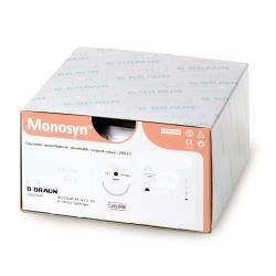 Szwy chirurgiczne - Monosyn®1/2 koła 0 HR 26 70 cm- Fioletowe - wchłanialne -1 szt.
