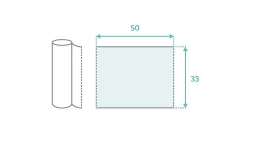 Podkład bibułowo-foliowy w rolce MedixPro 33 cm  x 25 m, 1 szt.