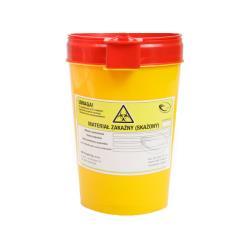 Pojemnik na ostre odpady medyczne UNIVERSAL 0,7L żółty