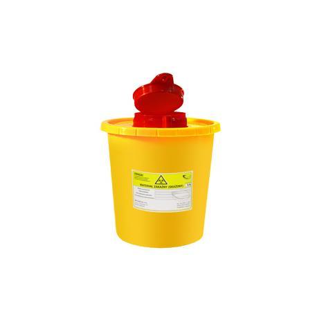 Pojemnik na ostre odpady medyczne STANDARD 1L żółty