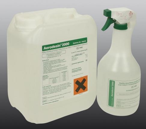 Aerodesin płyn do dezynfekcji butelka 1 litr ze spryskiwaczem