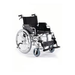 Wózek inwalidzki stalowy H011 z szybkozłączką i hamulcem pomocniczym roz. 46 cm