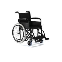 Wózek inwalidzki stalowy H011 z szybkozłączką i regulacją kąta podnóżków roz. 51 cm