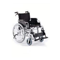 Wózek inwalidzki aluminiowy z szybkozłączką i hamulcem pomocniczym roz. 43 cm