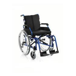 Wózek inwalidzki aluminiowy z szybkozłączką i łamanym oparciem roz. 48 cm