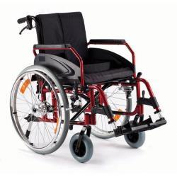 Wózek inwalidzki aluminiowy z szybkozłączką i hamulcem pomocniczym roz. 46 cm
