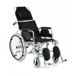 Wózek inwalidzki aluminiowy stabilizujący plecy i głowę roz. 46 cm czarny