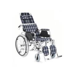 Wózek inwalidzki aluminiowy stabilizujący plecy i głowę roz. 46 cm w kratę