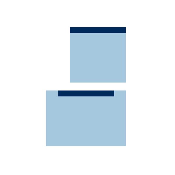Serweta włókninowa 3 warstwowa, jałowa, z przylepcem 75 x 75 cm