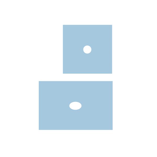 Serweta włókninowa jałowa, 3 warstwy, 50 x 75 cm, z centralnym otworem ⌀ 7 cm