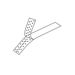 Velcro - Taśma chirurgiczna typu rzep, jałowa 2 cm x 22 cm