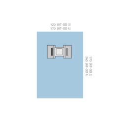 Serweta okulistyczna 120 x 170 cm z folią operacyjną i 2 kieszeniami na płyny, otwór 10 x 10 cm