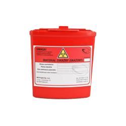 Pojemnik na ostre odpady medyczne STANDARD 0,25L czerwony