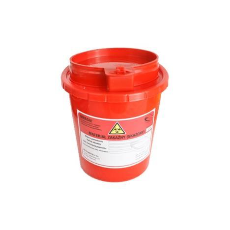 Pojemnik na ostre odpady medyczne UNIVERSAL 1L czerwony