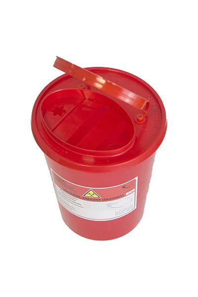 Pojemnik na ostre odpady medyczne STANDARD 1,5L czerwony