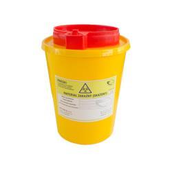 Pojemnik na ostre odpady medyczne UNIVERSAL 1,5L żółty