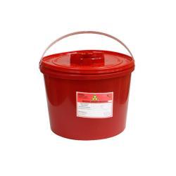 Pojemnik na odpady medyczne 10L czerwony