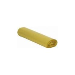 Worki na śmieci LDPE żółte 35 L (rolka)