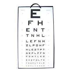 Tablica okulistyczna Snellena - literki