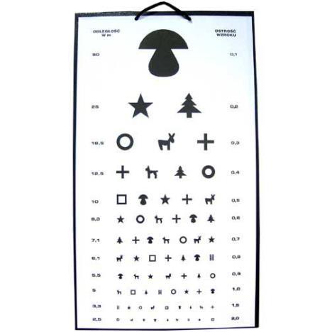 Tablica okulistyczna - grzybek