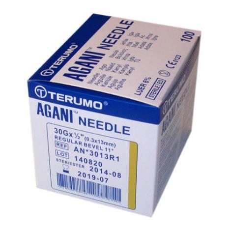 Terumo Agani - igły iniekcyjne 0,3 x 13 mm; 30 G - 100 szt.