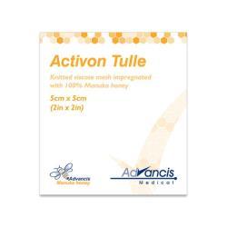 Opatrunek Activon Tulle do leczenia ran z miodem MANUKA 5x5 cm, 1 op.