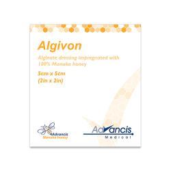 Opatrunek Algivon do leczenia ran z miodem MANUKA 5x5 cm, 1 op.