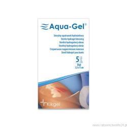 Sterylny opatrunek hydrożelowy Aqua- Gel, Ø 6,5 cm