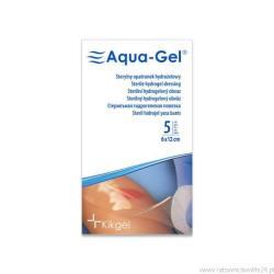 Sterylny opatrunek hydrożelowy Aqua- Gel, 6 x 12 cm, 1 szt.