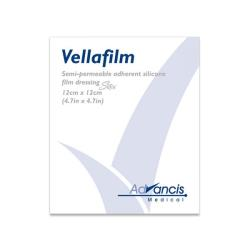 Sterylne opatrunki silikonowe Silfix - Vellafilm 12 x 12 cm, 1 op.