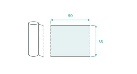 TATTOO DESIGN Prześcieradło Jednorazowe Podfoliowane 50 cm x 40 m, 1 szt.