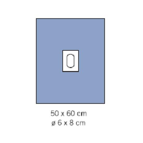 Serweta operacyjna FS2 50x60 z otworem 6x8 i taśmą