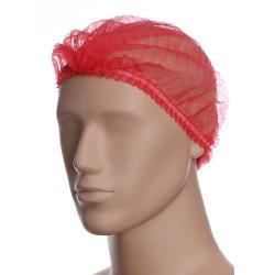 Czerwony czepek polipropylenowy - harmonijka - 100 szt.
