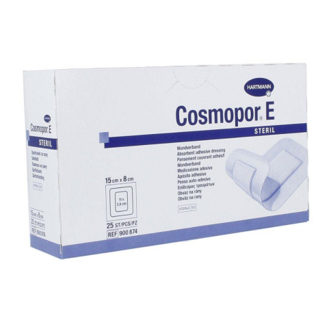 Opatrunek pooperacyjny jałowy Cosmopore E 15 cm x 8 cm, op. 25 szt.