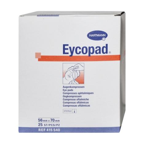Opatrunek oczny EYCOPAD 56 cm x 70 cm, jałowy, 25 szt.