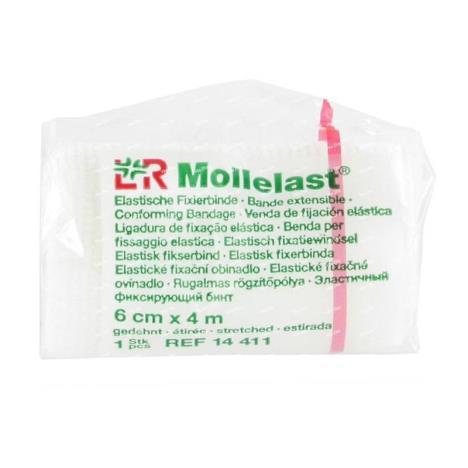 Bandaż elastyczny Mollelast, 6cm x 4m