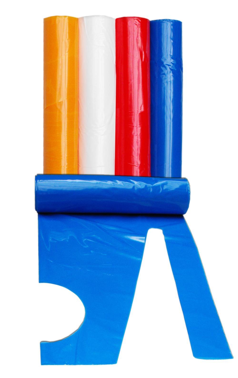 Fartuch foliowy w zwoju 40 um - niebieski, 1szt.