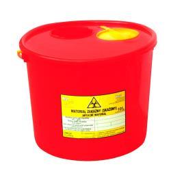 Pojemnik na ostre odpady medyczne, czerwony- 10L