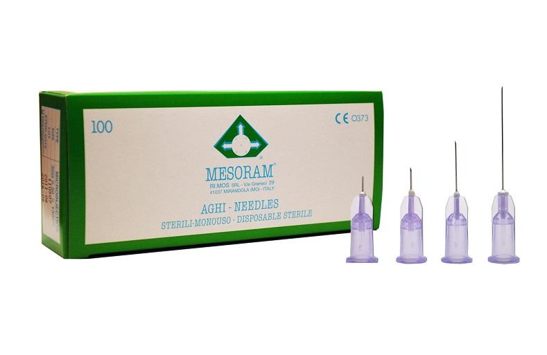 Igły do mezoterapii MESORAM 0,3 x 13 mm , 30 G - 100 szt.