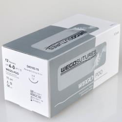 PDO 4-0, 45 cm, igła 3/8 premium tnąca 16 mm