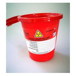 Pojemnik na ostre odpady medyczne STANDARD 0,7L czerwony