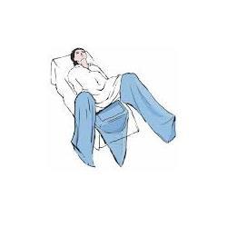Zestaw obłożeń do operacji ginekologicznych- otwór w kroczu