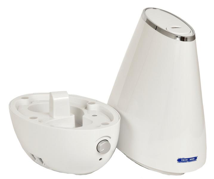 Nawilżacz powietrza ultradźwiękowy z jonizatorem TM LOTOS (biały)
