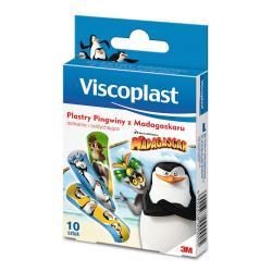 Viscoplast Plastry dla dzieci Pingwiny z Madagaskaru, 10 szt.