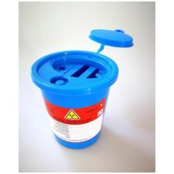 Pojemnik na odpady medyczne niebieski 2L
