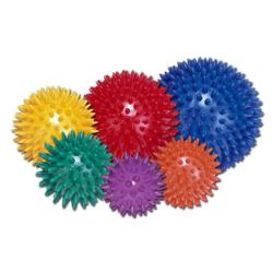Piłeczka do rehabilitacji z kolcami Ø 10 cm niebieska