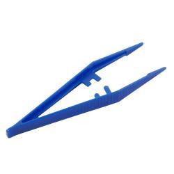 Pęseta plastikowa niejałowa 13 cm niebieska
