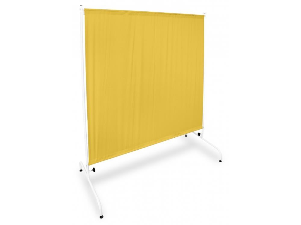 Parawan metalowy I PRM 1S W1 na stopkach żółty