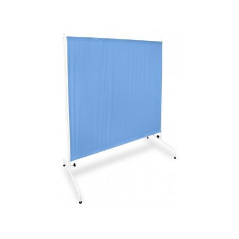 Parawan metalowy I PRM 1S W1 K na kółkach niebieski