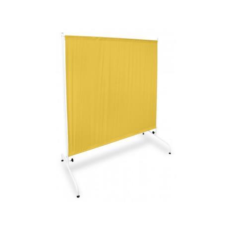 Parawan metalowy I PRM 1S W1 K na kółkach żółty